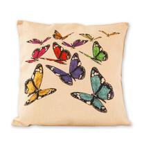 Obliečka na vankúšik Režné motýle, 45 x 45 cm