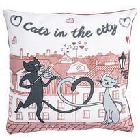 Poszewka na poduszkę Koty w mieście, 40 x 40 cm