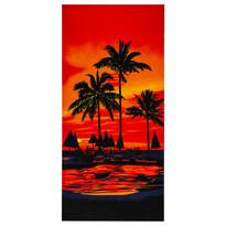 Prosop de plajă Palmieri, roşu, 70 x 150 cm