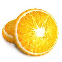 Tvarovaný 3D vankúšik Pomaranč, 34 cm