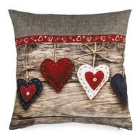 Obliečka na vankúšik Christmas Heart, 40 x 40 cm