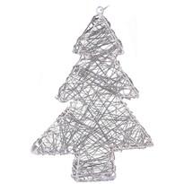Vánoční drátěný stromek Rivoli stříbrná, 20 LED