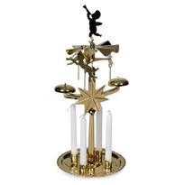 Ruchoma dekoracja, świecznik z dzwonkami De Luxe złoty