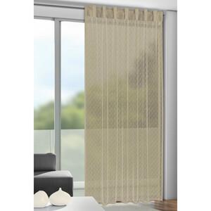 Záclona s poutky Calli oříšková, 140 x 245 cm