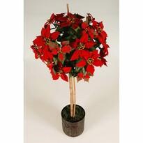 Stromek Poinsettie červená, 110 cm