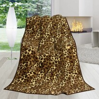 Koc Karmela Plus Skóra leoparda, 150 x 200 cm
