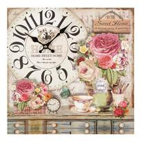 Nástěnné hodiny Kytice růží, 34 cm