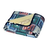 Vlnená deka Merino patchwork, 140 x 200 cm