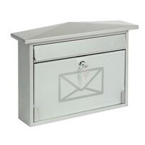 Poštovní ocelová schránka s tvrzeným sklem
