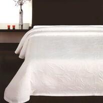 Prehoz na posteľ Floral biela, 140 x 220 cm