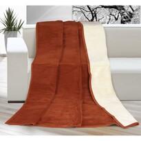 Pătură Kira, teracotă/bej, 150 x 200 cm