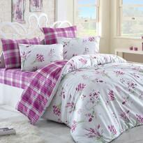 Bavlněné povlečení Lavente růžová, 220 x 200 cm, 2 ks 70 x 90 cm