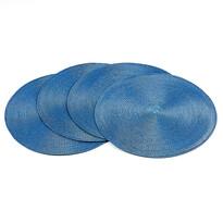 Prostírání Deco kulaté světle modrá, pr. 35 cm, sada 4 ks