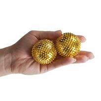 Akupresúrne guľôčky s magnetmi zlatá, pr. 4,5 cm