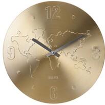 Ceas perete World auriu, 35 cm