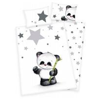 Pościel dziecięca do łóżeczka Jana Star Panda,  135 x 100 cm, 40 x 60 cm