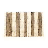 Ručne tkaný koberec Juta tmavá, 60 x 90 cm