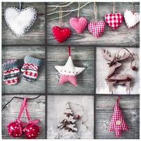 Vánoční ubrus Ozdobičky patchwork
