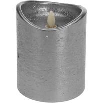 Świeczka dekoracyjna LED srebrny, 12 cm