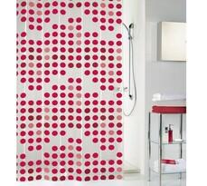 Kleine Wolke sprchový záves Bodky červená, 180 x 200 cm