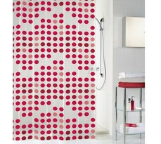 Kleine Wolke sprchový závěs Puntíky červená, 180 x 200 cm