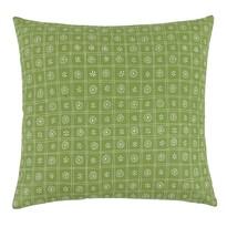Polštářek Rita Čtverce zelená, 40 x 40 cm