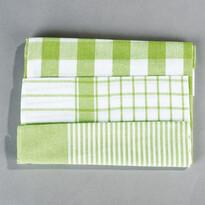Konyhai törlőruha készlet mix, zöld, 50 x 70 cm, 3 db