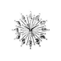 Nástenné hodiny Lavvu Crystal Flower LCT1120 strieborná, pr. 33 cm