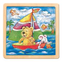Bino Puzzle Medvěd s myší Oli a Lea