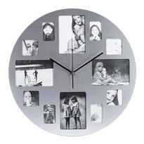 Nerezové nástenné hodiny Picture 39 cm