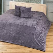 4Home prehoz na posteľ Imperial sivá, 220 x 240 cm, 2 ks 40 x 40 cm