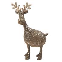 Dekoracyjny renifer stojący z ceramiki, 21 cm