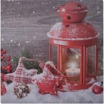 LED Obraz na plátne Lanterne rouge, 30 x 30 cm