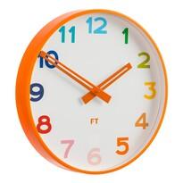 Future Time FT5010OR Rainbow orange Detské nástenné hodiny, pr. 30 cm