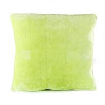 Polštářek Mikroplyš zelená, 40 x 40 cm