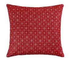 Vankúšik Rita, červené štvorce, 40 x 40 cm