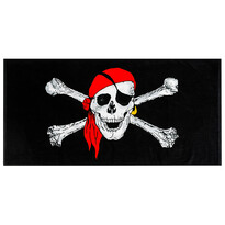Plážová osuška Pirate, 70 x 150 cm