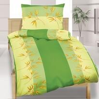 Bavlnené obliečky Trstina zelená, 140 x 200 cm, 70 x 90 cm