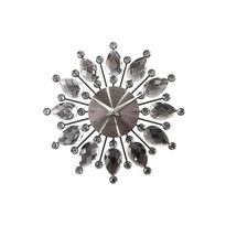 Zegar ścienny Lavvu Crystal Flower LCT1121 antracytowy, śr. 33 cm