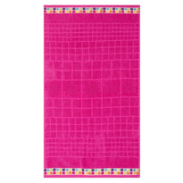 Ručník Mozaik růžová