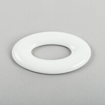 3D tapeta OVAL 17 cm, biela