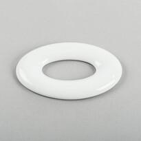 3D tapeta OVAL 17 cm, bílá
