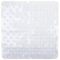Protiskluzová podložka do koupelny Vlnka bílá, 55 x 55 cm