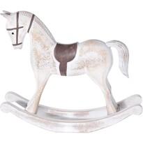 Dekorační houpací kůň Flavio bílá, 27 cm