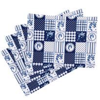 Prostírání Country patchwork modrá, 33 x 45 cm, sada 4 ks