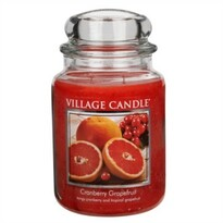 Village Candle Vonná sviečka Brusnica a grapefruit - Cranberry Grapefruit, 645 g