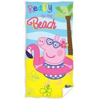 Ręcznik kąpielowy Peppa Pig – Peppa beach, 70 x 140 cm