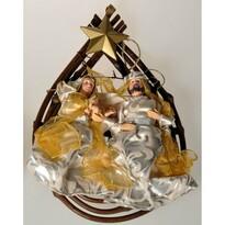 Závěsná dekorace Svatá rodina, zlatá