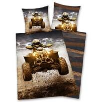 Bavlnené obliečky Štvorkolka, 140 x 200 cm, 70 x 90 cm