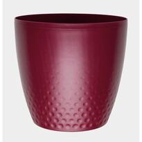Plastový obal na květináč Perla 16 cm, vínová